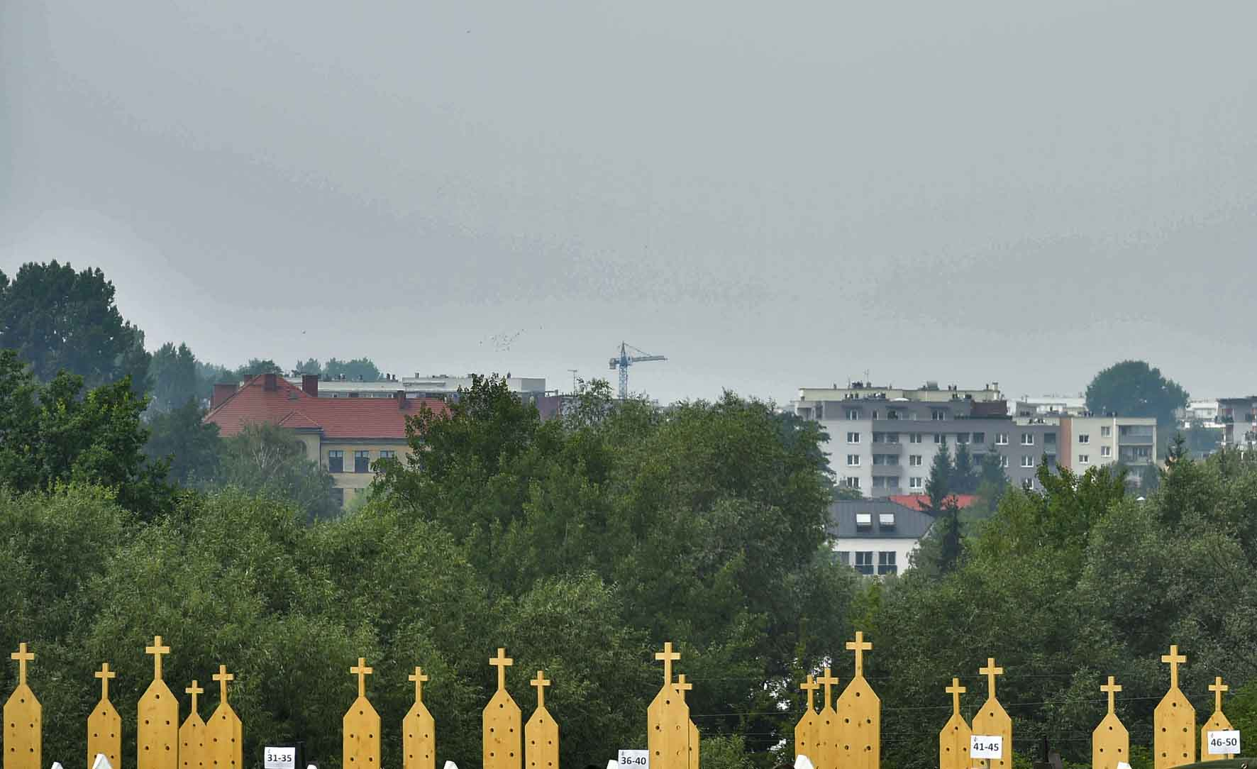 Cracovia, 26 luglio 2016. GMG 2016.L\'area dedicata alla Confessione presso il Santuario della Divina Misericordia di Santa Faustina Kowalska.