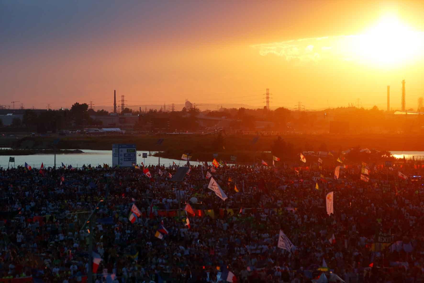 Cracovia, 30 luglio 2016. GMG 2016 Papa Francesco presso il Campus Misericordiae