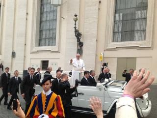 Udienza dal Papa del 27.3.2013