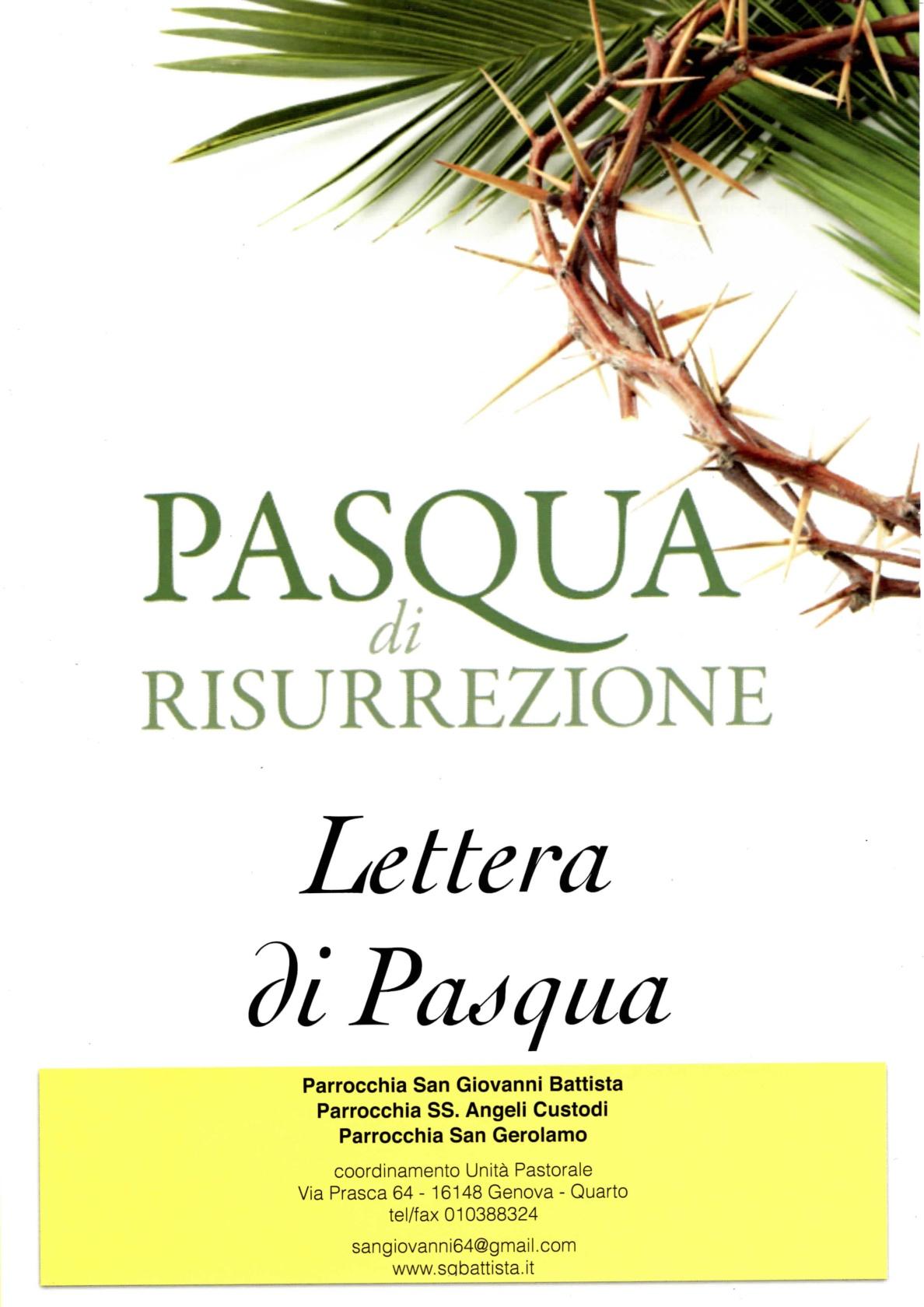 lettera di pasqua